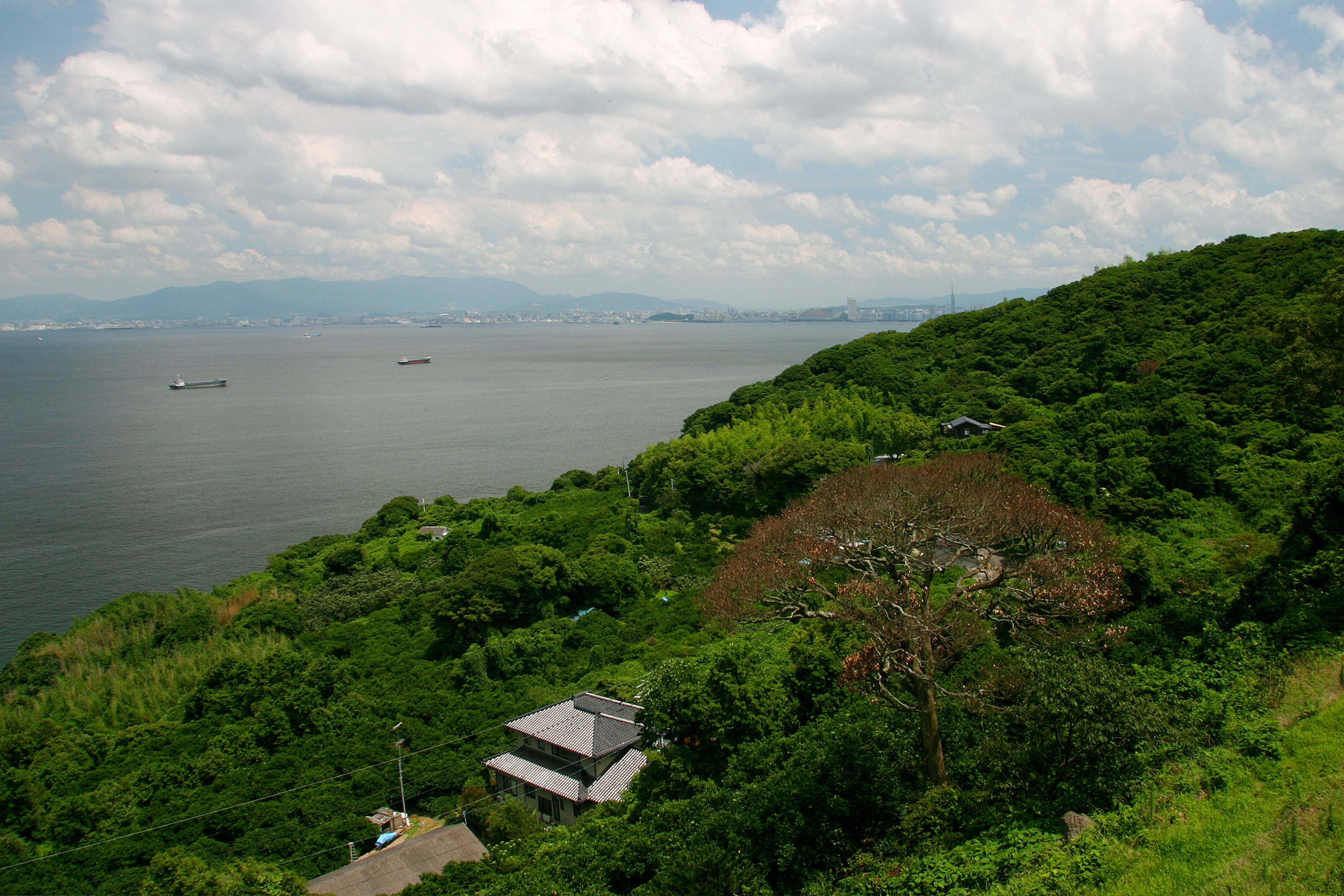 能古島からシーサイドももちを望む(撮影年不明)の画像