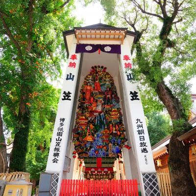 櫛田神社境内の飾り山(2009)の画像