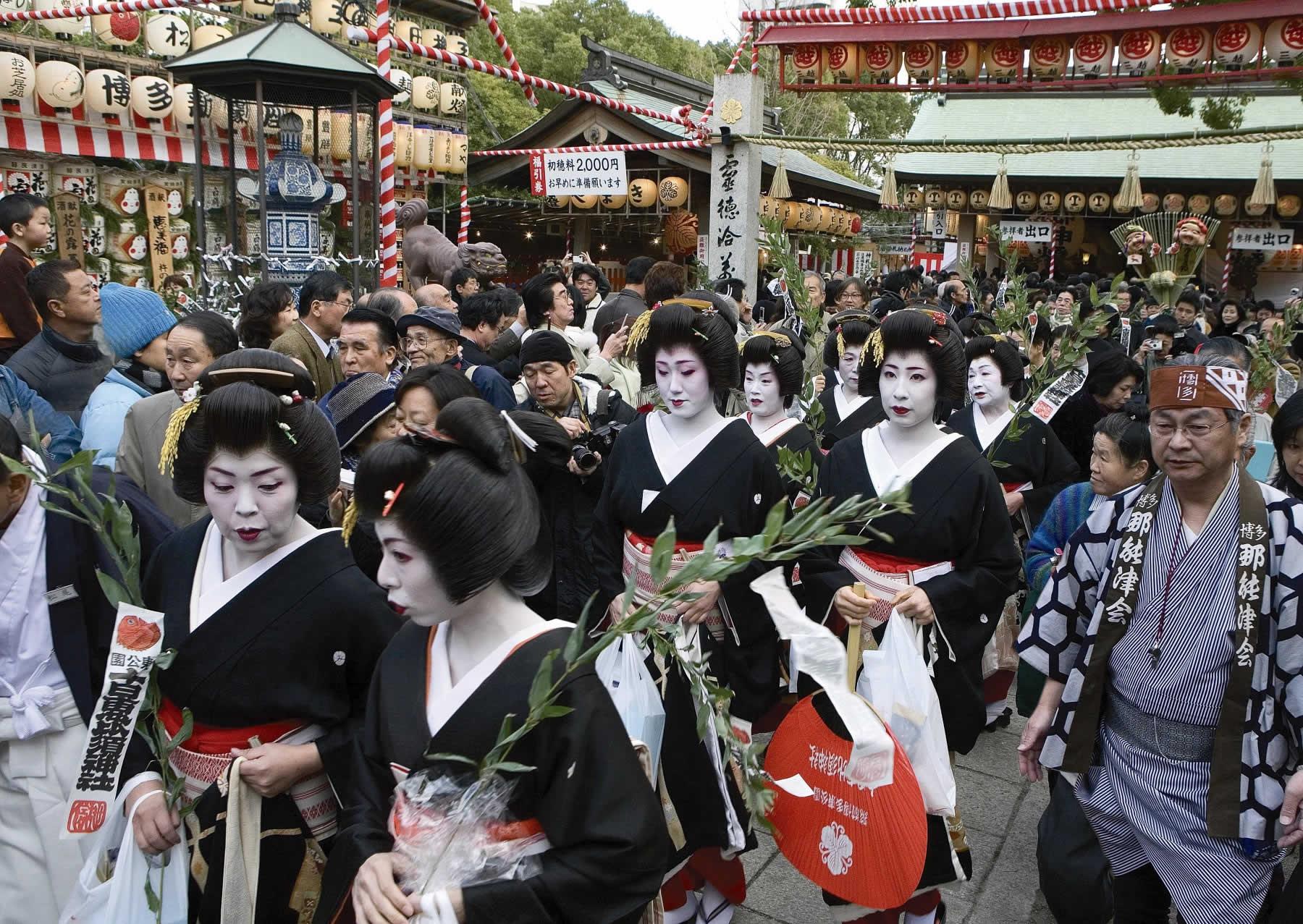 十日恵比須・博多芸妓衆の徒歩(かち)参り(2007)の画像