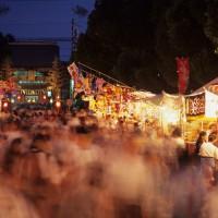 筥崎宮参道に並ぶ露店(撮影年不明)の画像