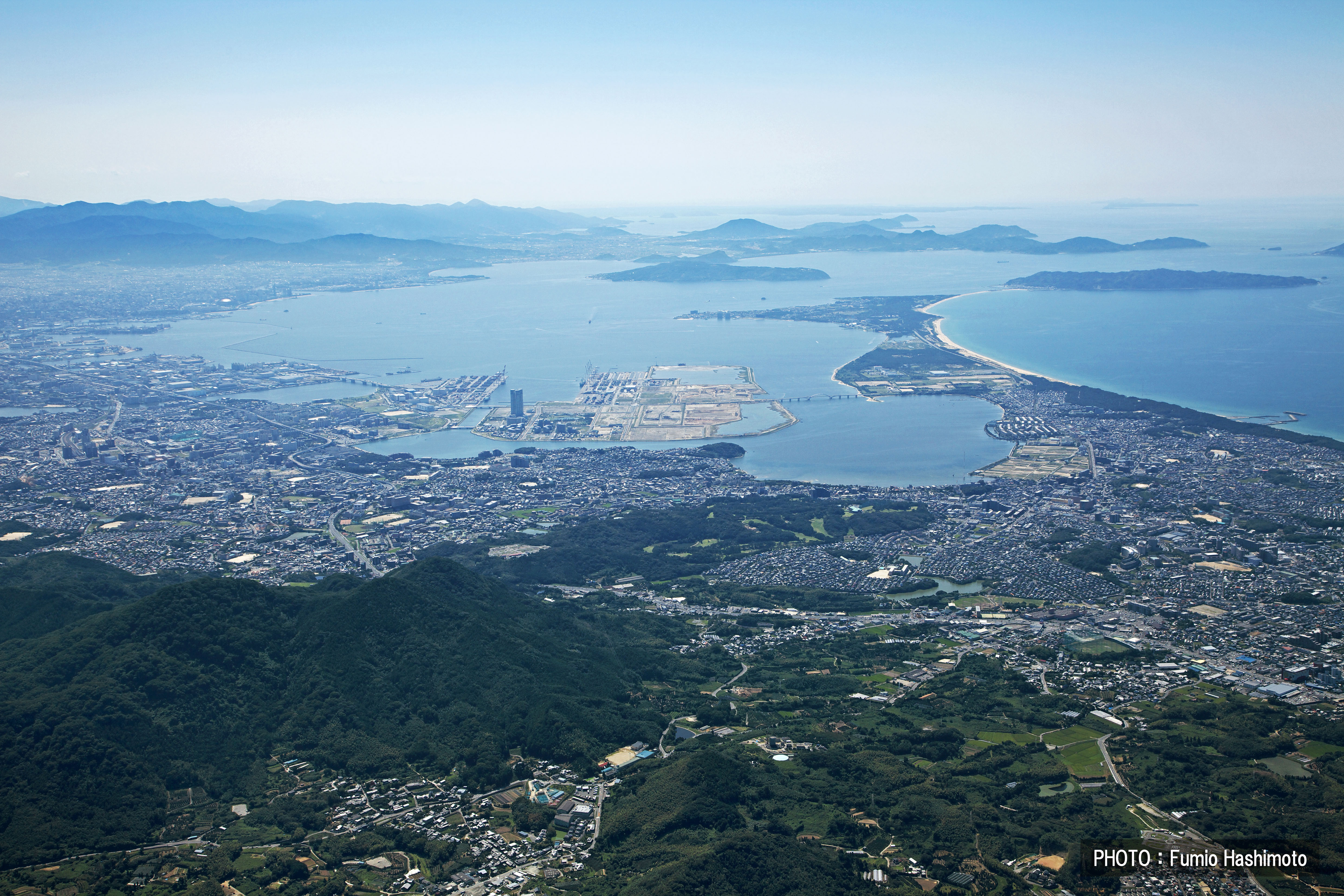 立花山上空から(2009)の画像