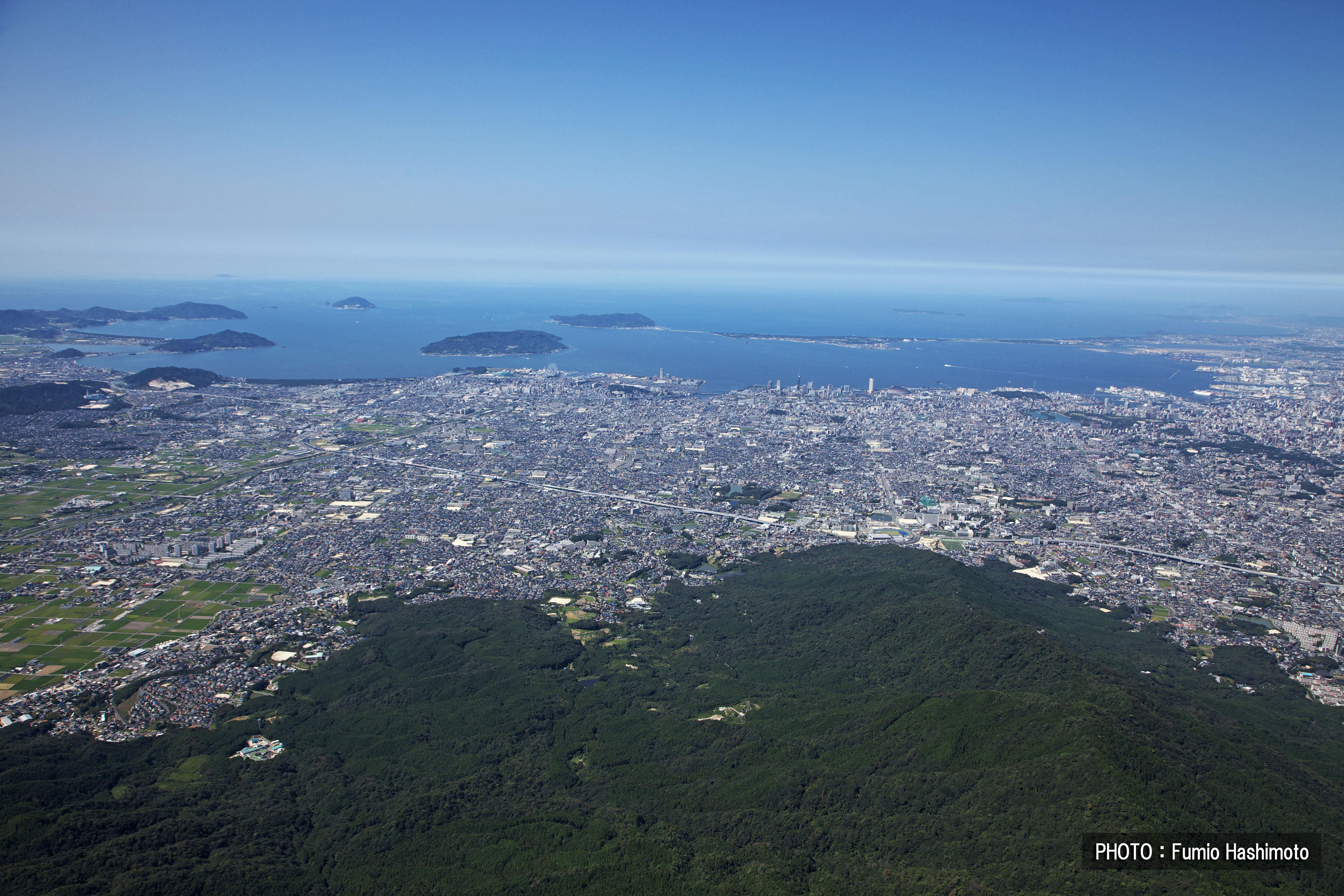 油山上空から(2009)の画像