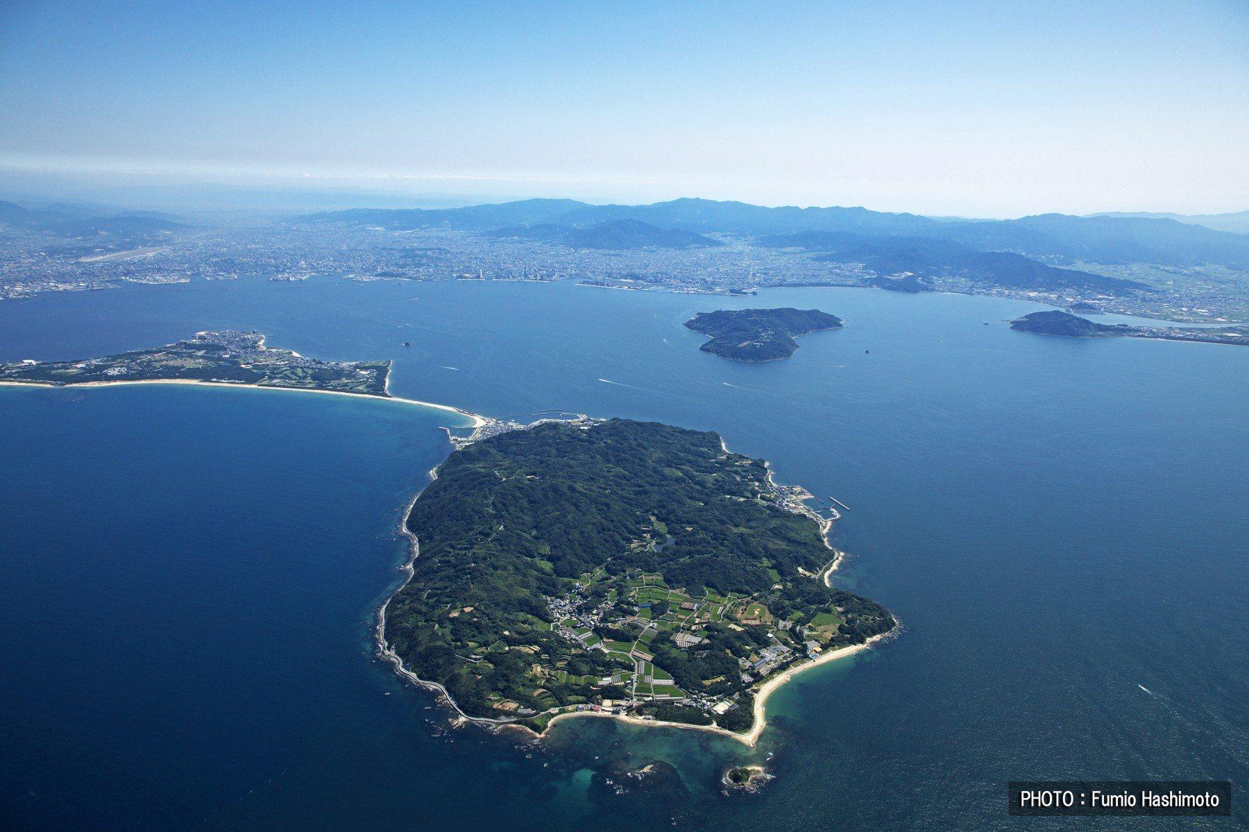 志賀島上空(2009)の画像