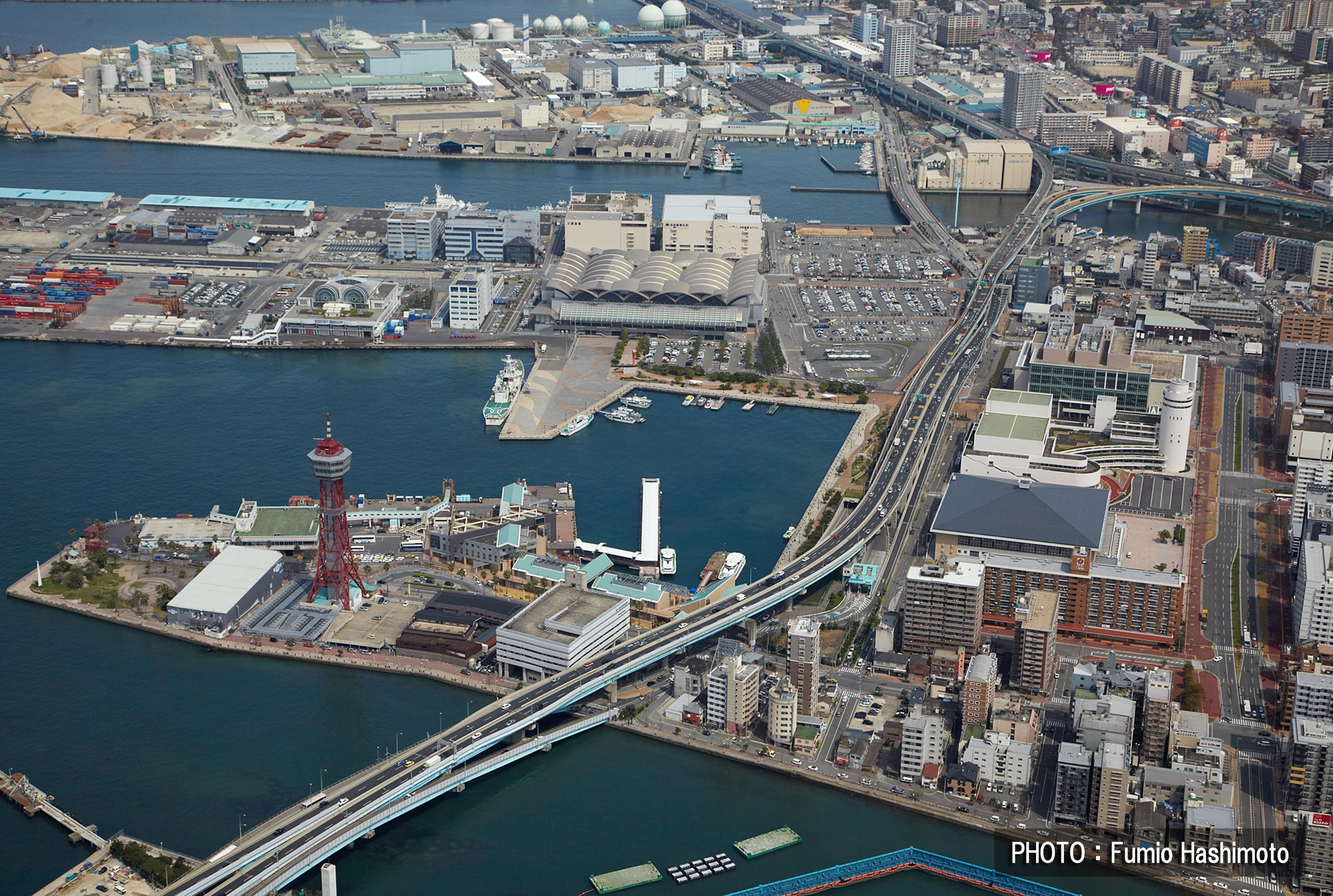 博多港上空(2009)の画像