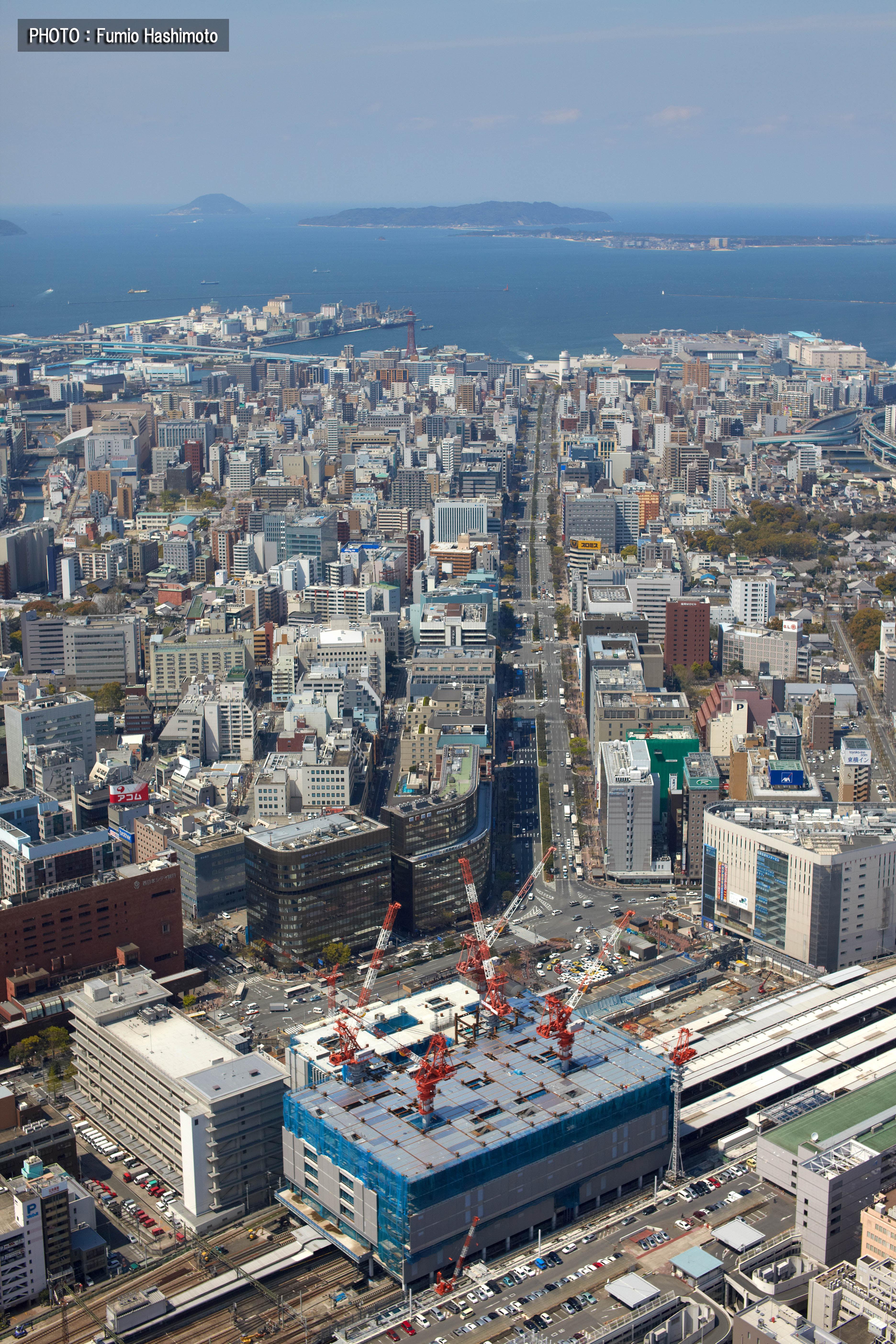 工事中の博多駅(2009)の画像
