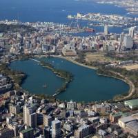 大濠公園上空(2009)の画像