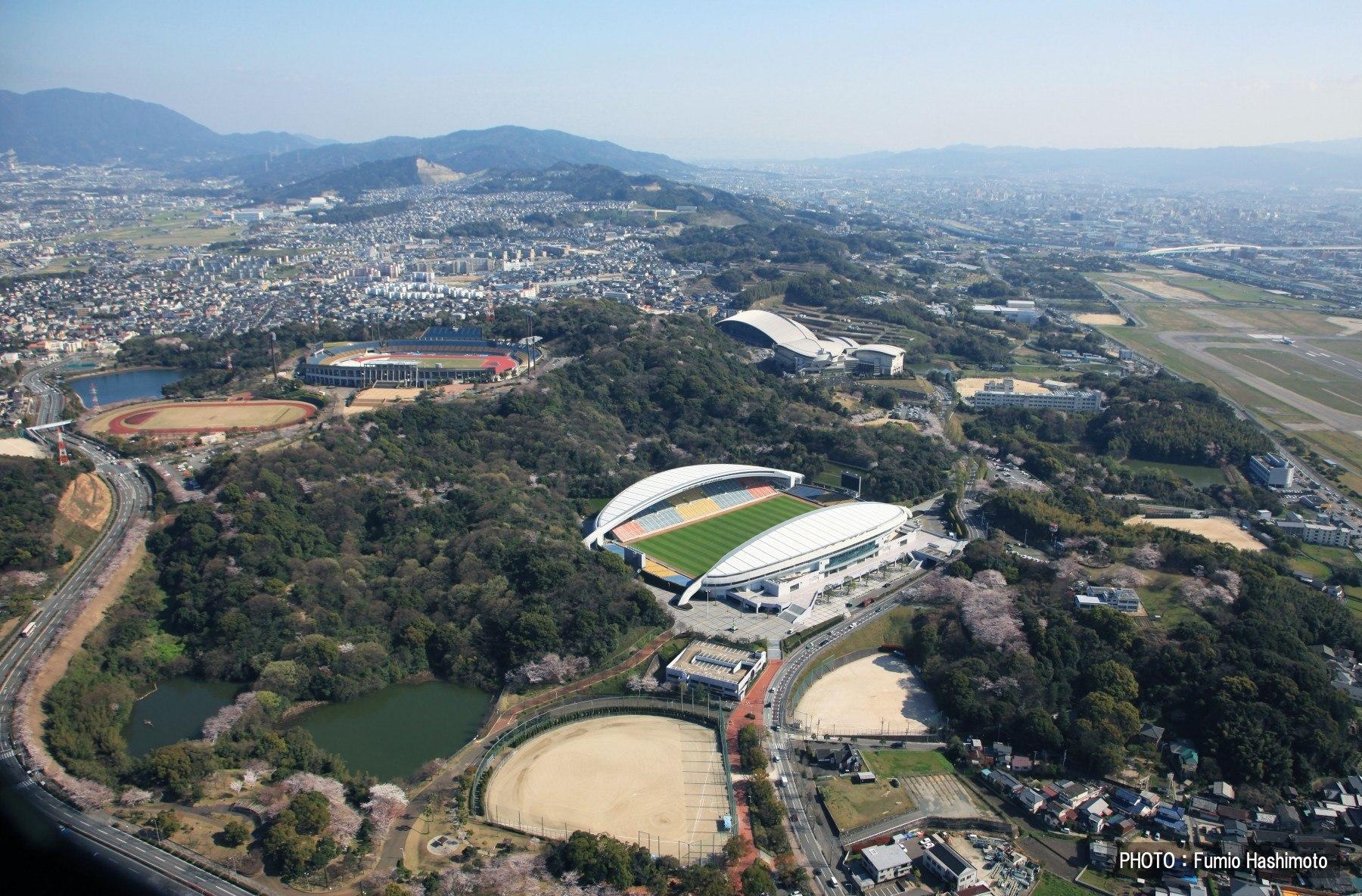 東平尾公園上空(2009)の画像
