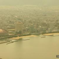 黄砂にかすむ地行浜・百道浜(2009)の画像