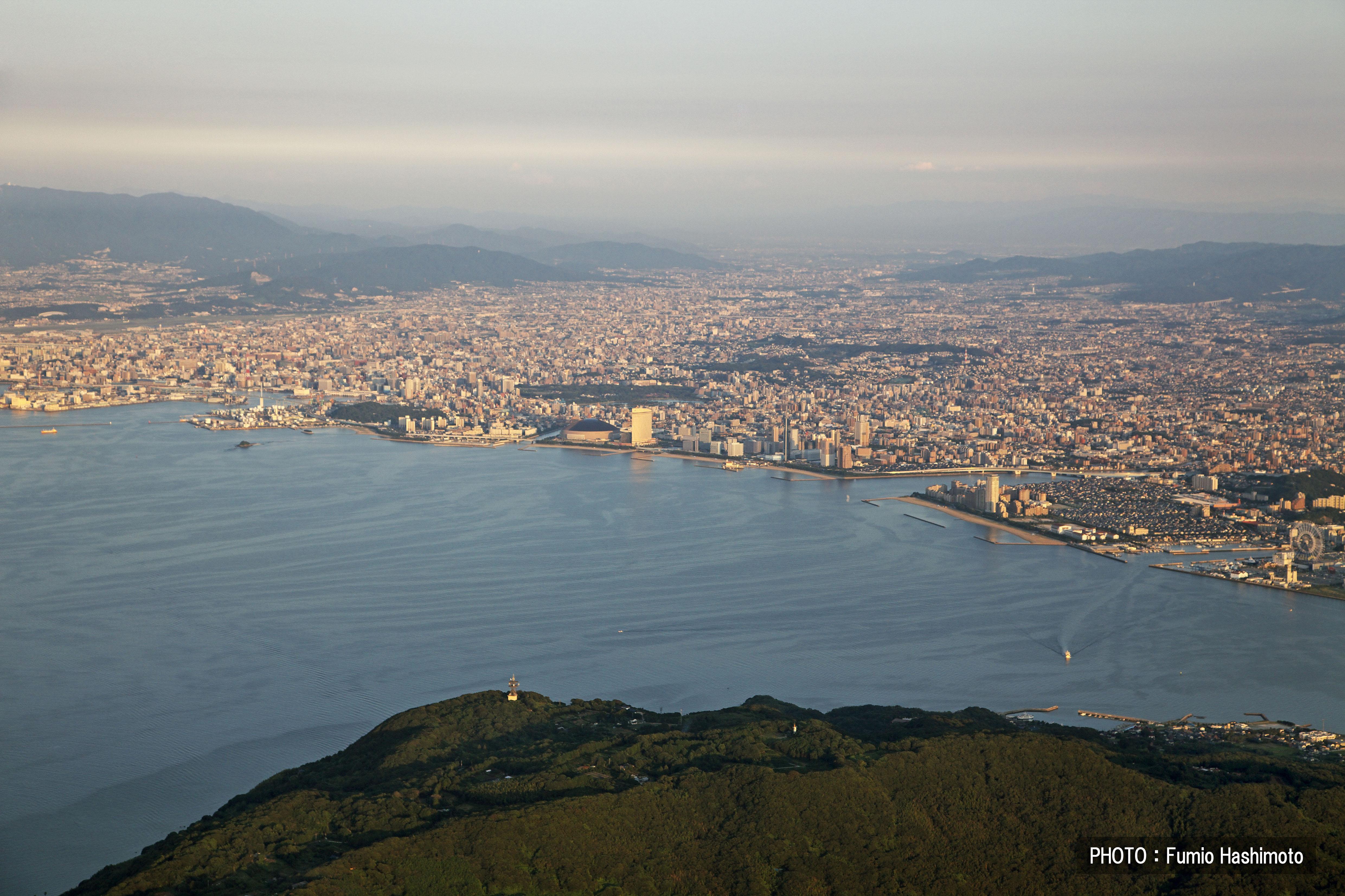 能古島上空(2009)の画像