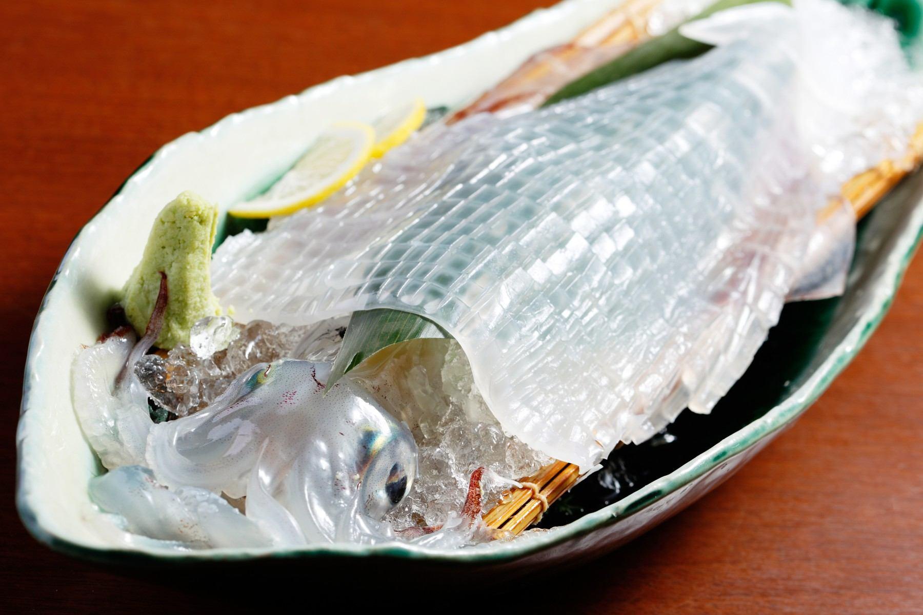 イカの活き造り(2011)の画像
