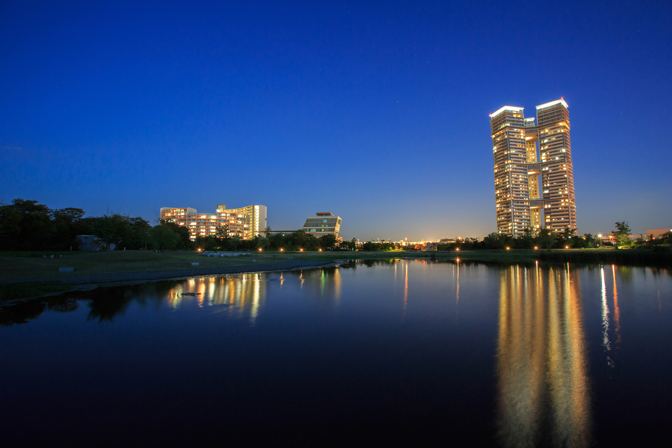アイランドシティ中央公園夜景(2013)の画像