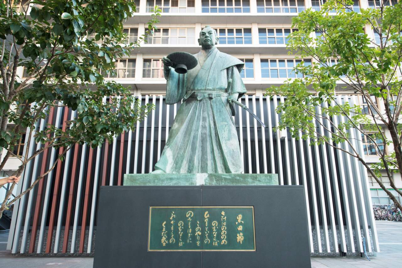 博多駅・黒田節像(2013)の画像