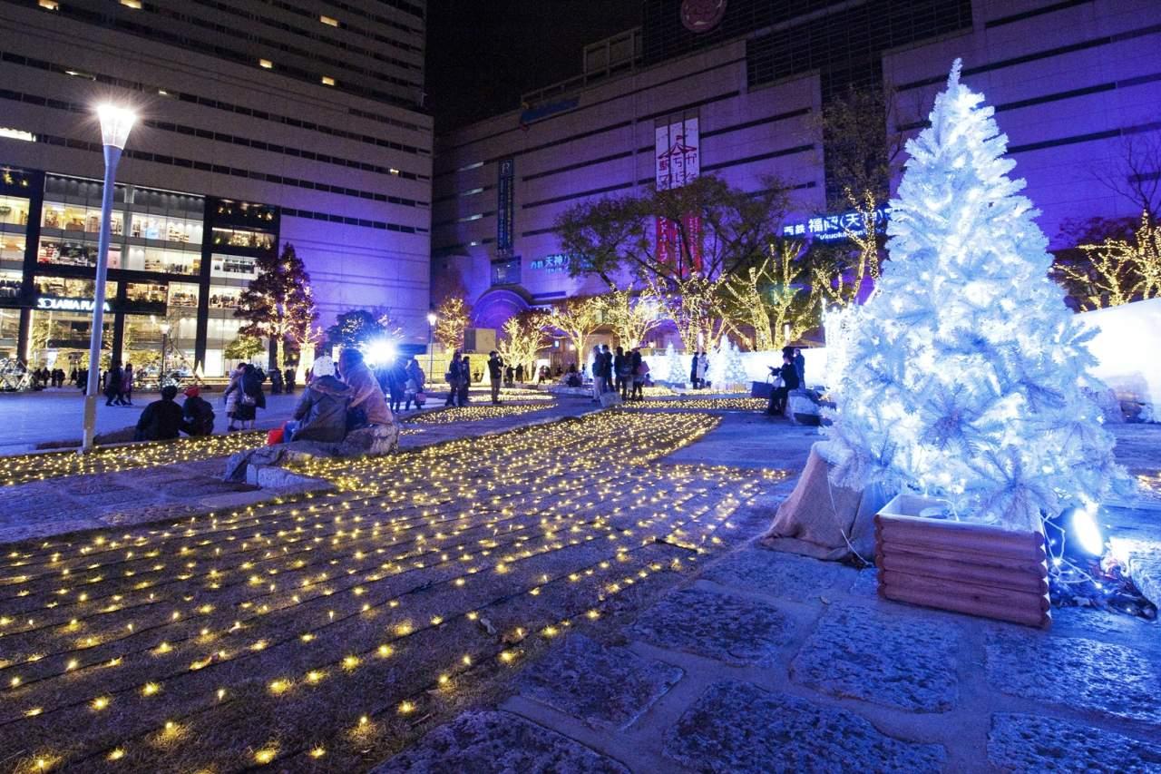 警固公園のクリスマスイルミネーション(2013)の画像