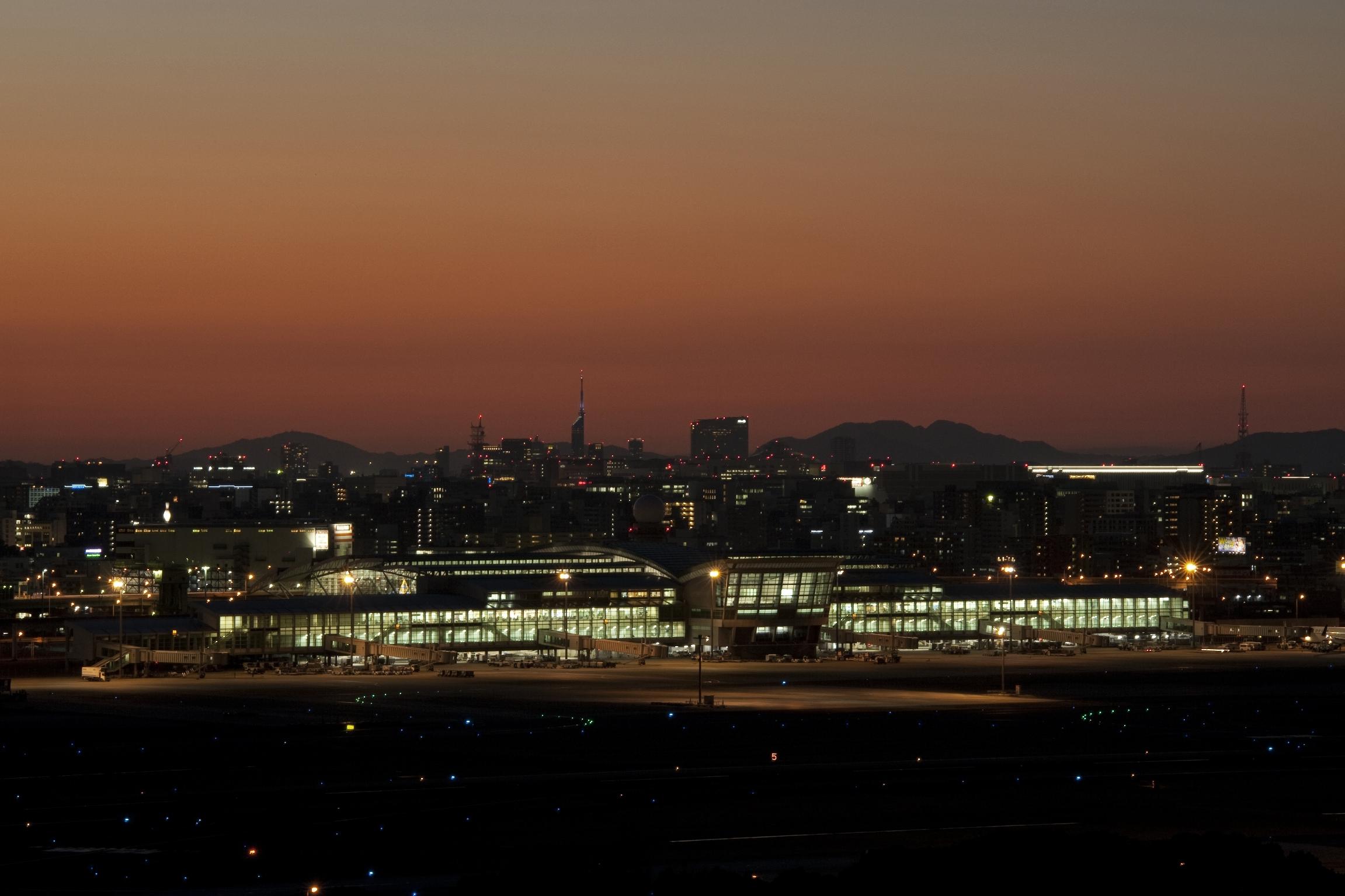 福岡空港夜景(2014)の画像