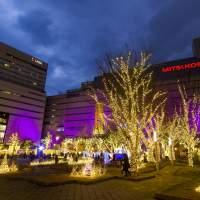 警固公園のクリスマスイルミネーション(2014)の画像