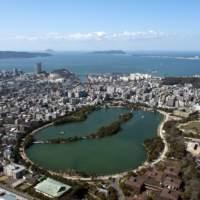 大濠公園から博多湾(2015)の画像