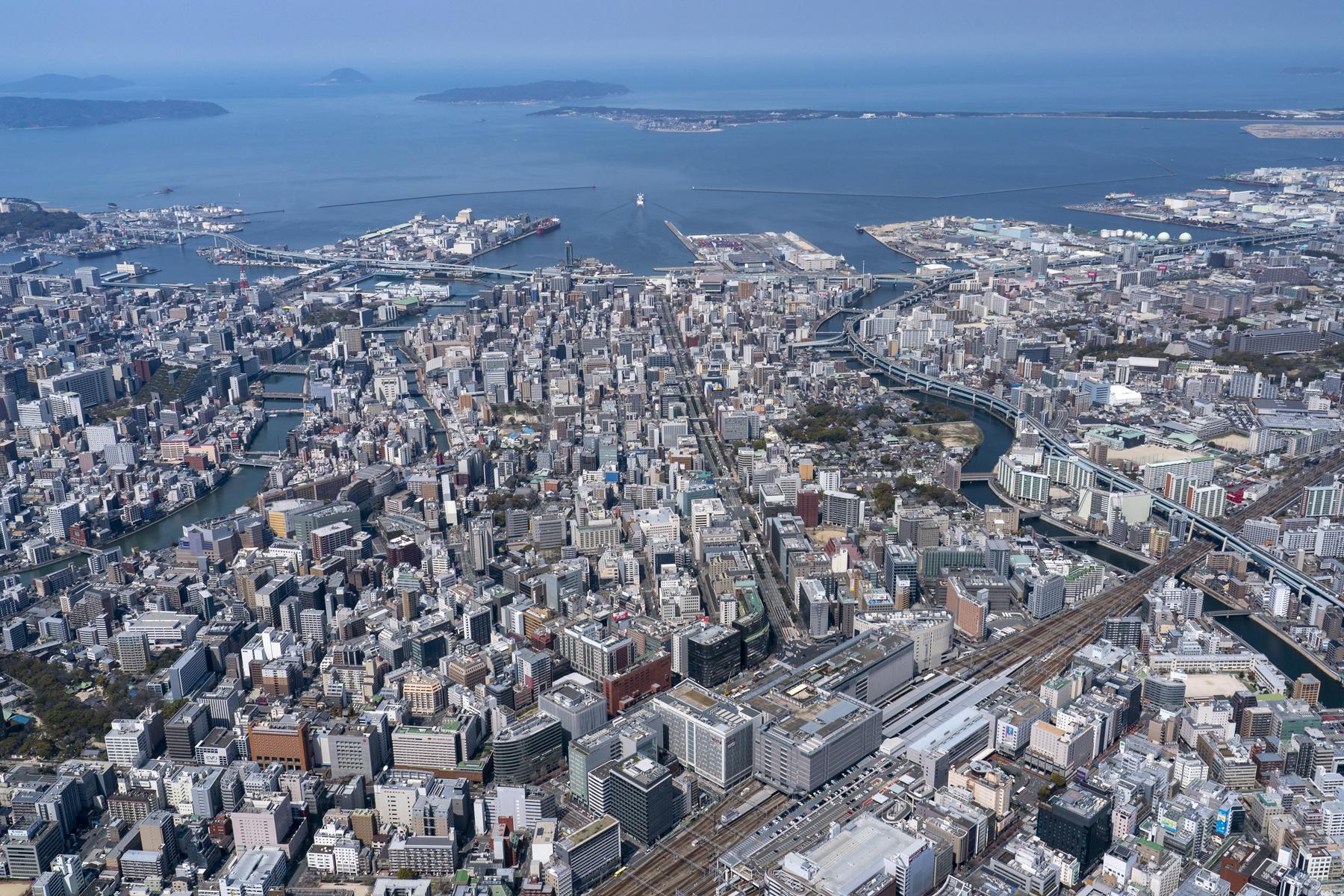 博多駅から博多湾(2019)の画像